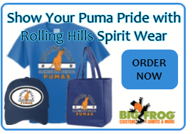 Show your Puma pride and order Rolling Hills spirit wear